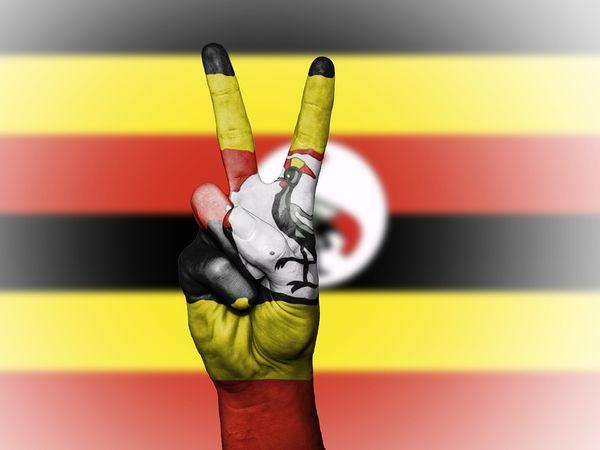 uganda flag peace